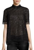 Giamba Floral Sequin Top