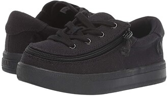 Billy Footwear Kids BILLY Footwear Kids Classic Lace Low Canvas (Toddler) (Black to the Floor Canvas) Kid's Shoes