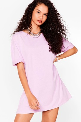 Nasty Gal Womens Acid Wash the Record Tee Dress - Pink