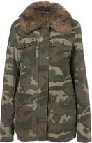 Tall Camo Fur-lined Jacket