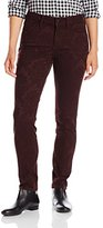 NYDJ Women's Petite Alina Legging Fit Skinny Jeans with Floral Jacquard