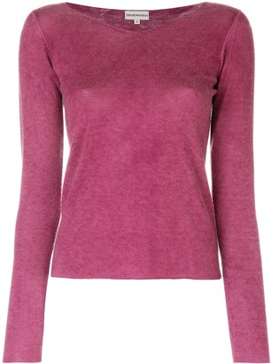Emporio Armani Pre-Owned long sleeve V-neck knitted top