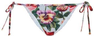 Dolce & Gabbana Hibiscus-print Side-tie Bikini Briefs - Multi