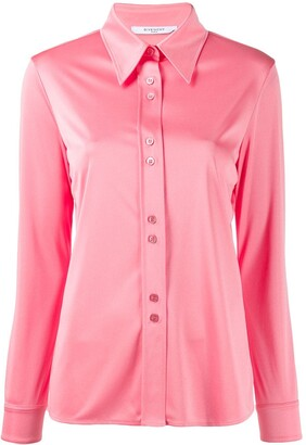 Givenchy Pointed-Collar Long-Sleeved Shirt