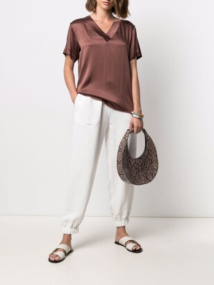Antonelli V-neck satin blouse