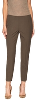 Lafayette 148 New York Wool Blend Side Zipped Cropped Pant