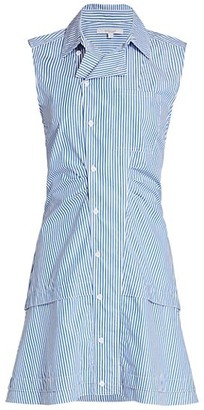 Derek Lam 10 Crosby Satina Striped Shirt Dress