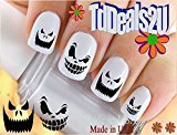 Holiday Halloween - Scary Pumpkin Face #2 WaterSlide Nail Art Decals - Highest Quality! Made in USA