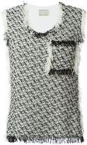 Lanvin tweed tank top - women - Cotton/Polyamide - L