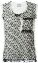 Lanvin tweed tank top
