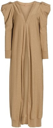 Johanna Ortiz Kashmir 2-Piece Metallic Knit Midi Dress & Cardigan Set