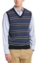 Brooks Brothers V-neck Merino Wool Vest.