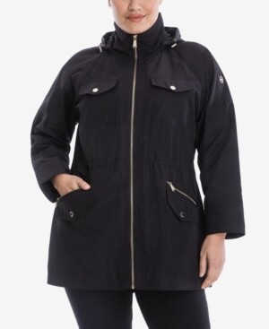 Michael Kors Michael Plus Size Hooded Anorak