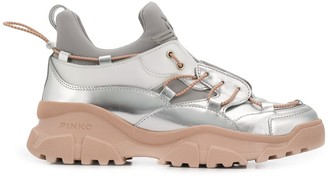 Pinko Laminated Trek Sneakers