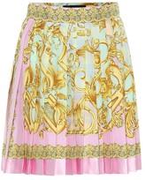 Versace Exclusive to Mytheresa Printed silk miniskirt