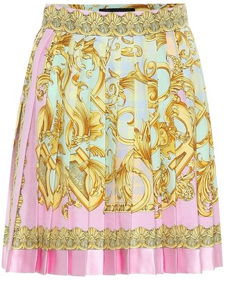 Versace Exclusive to Mytheresa Printed silk miniskirt