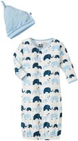 Kickee Pants Layette Gown Converter Set (Baby) - Bubble Elephant - 12-18 Months