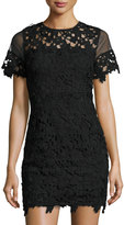 Romeo & Juliet Couture Strapless Embroidered-Overlay Dress, Black