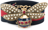 Gucci bee embellished web belt
