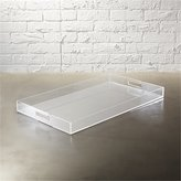 CB2 Acrylic Clear Rectangular Tray