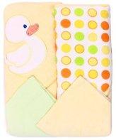 SpaSilk SpasilkHooded Terry Bath Towel with Washcloths, Duck Yellow, 2-Count