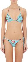 Dolce & Gabbana Women's Rose & Butterfly Triangle Bikini Top