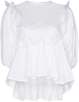 Cecilie Bahnsen Marie ruffled cotton blouse