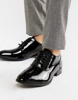 Base London Holmes patent oxford shoes-Black