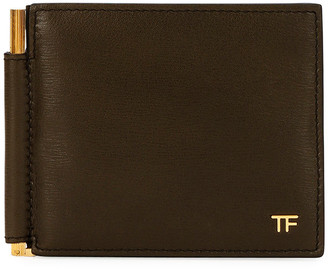 Tom Ford Men's Hammered Leather Wallet w/ Money Clip