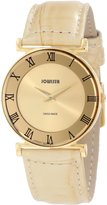 Jowissa Women's J2.110.M Roma 30mm PVD Roman Numeral Beige Leather Watch
