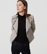 LOFT Fringe Tweed Jacket