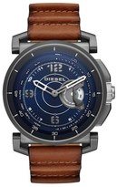 Diesel Hybrid Leather Strap Watch, 47mm