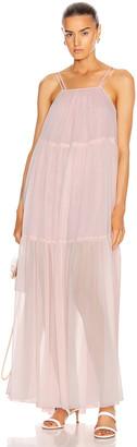 BROGNANO Sleeveless Tier Maxi Dress in Pink | FWRD