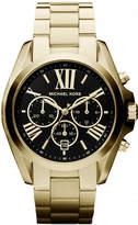 Michael Kors Gold-Tone Bradshaw Watch with a Black Dial MK5739