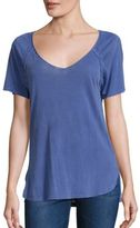 Splendid V-Neck Supima Cotton T-Shirt