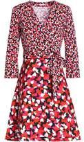 Diane von Furstenberg Printed Jersey Wrap Dress