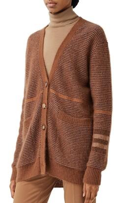 Burberry Shannon Wool, Mohair & Silk Blend Cardigan