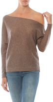 Minnie Rose One Shoulder Cashmere Sweater