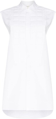 Bottega Veneta Quilted Cotton-Poplin Sleeveless Shirt