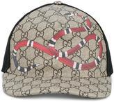 Gucci snake print GG supreme baseball cap - men - Cotton/Polyamide/Polyurethane - L