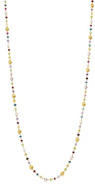 Marco Bicego 18K Yellow Gold Africa Gemstone Pearl Long Strand Necklace, 36