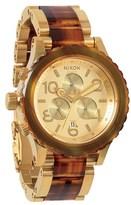Nixon 'The 42-20 Chrono' Acetate & Rose Gold Watch