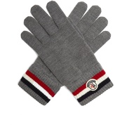 Moncler Striped wool-knit gloves