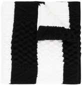McQ chunky knitted scarf