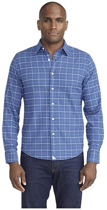 UNTUCKit Wrinkle-Free Performance Flannel Shirt (Blue) Men's Clothing