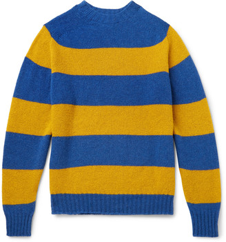 Drakes + Drake's Striped Wool Sweater