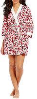 Kate Spade Rose-Print Jersey Wrap Robe
