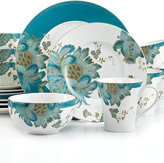 222 Fifth Eliza Teal 16-Pc. Set, Service for 4