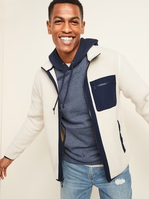 Old Navy Cozy Sherpa Mock-Neck Flurry Zip Jacket for Men