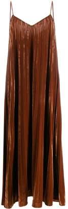 Mes Demoiselles pleated velvet maxi dress